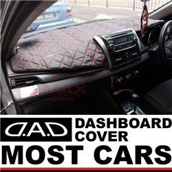 Most Cars DAD GARSON VIP Premium Genuine Quality PU Leather Custom Made Non Slip Stylish Dashboard Cover Mat