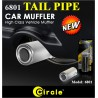 "CIRCLE 2"" Stainless Steel Tail Pipe Car Muffler Tip [6801] Universal"