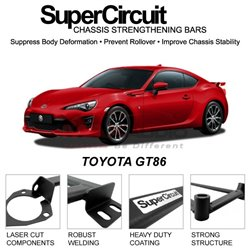 TOYOTA GT86 SUPER CIRCUIT Chassis Stablelizer Strengthening Racing Safety Strut Bars