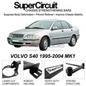 VOLVO S40 1995-2004 MK1 SUPER CIRCUIT Chassis Stablelizer Strengthening Racing Safety Strut Bars