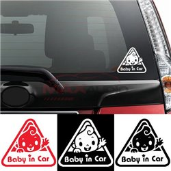 Baby In Car Japan Style Car Bumper Body Exterior Pre-cut Waterproof Personalized Styling Sticker Decal
