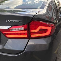 HONDA CITY GM6 2014 - 2018 M3 Style Red Lens LED Light Bar Tail Lamp with Sequential Turn Signal