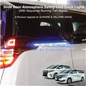 TOYOTA ALPHARD VELLFIRE ANH30 2015 - 2021 Slide Door Safety LED Light Bar Track Light with Sequential Running Turn Signal
