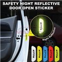 Universal Car Door Trunk Boot OPEN Safety Anti Accident Crash Warning Night Reflective 3M Stickers (4pcs)