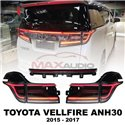 TOYOTA VELLFIRE ANH30 2015 - 2017 Full Smoke Lens Sequential Running Turn Signal LED Tail Lamp with Welcome Light (187) (Pair)