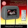 "7"" Grey Leather Headrest TFT Monitor w/ DVD/VCD/MP3/CD [7002-Grey]"