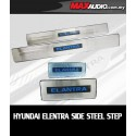 HYUNDAI ELANTRA MD 2012 - 2015 Stainless Steel White LED Door Side Sill Step Plate