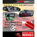 *3 in 1* PROTON WIRA EAGLE EYES Projector Chrome Head lamp + LED Light Bar Tail Lamp + H7 HID Conversion Kit