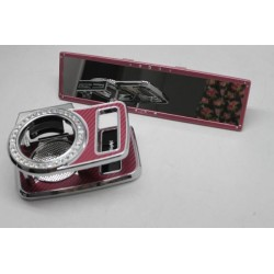 MIRAREED Pink Lady 28Cm Crystal Rearview Mirror + Cup & Phone Holder