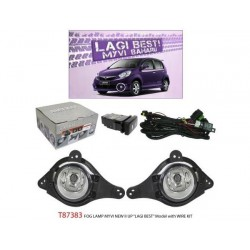 PERODUA MYVI Lagi Best 2011 - 2015: TRIO Super Bright OEM Fog Lamp Spot Light with Bulb, Full Wirring Kit, Switch [T87383]