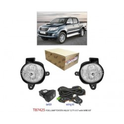 TOYOTA HILUX 2012 - 2015: TRIO Super Bright OEM Fog Lamp Spot Light with Bulb, Full Wirring Kit, Socket & Switch [T87425]