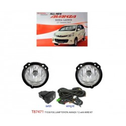 TOYOTA AVANZA 2012 - 2015: TRIO Super Bright OEM Fog Lamp Spot Light with Bulb, Full Wirring Kit, Socket & Switch [T87474]
