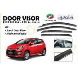 PERODUA AXIA 2014 - 2015 Premium Quality Anti UV Light Injection Door Visor (AL)