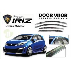 PROTON IRIZ 2014 - 2015 Premium Quality Anti UV Light Injection Door Visor (AL)