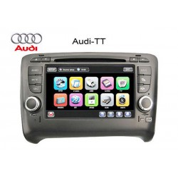 "AUDI TT 1998 - 2014 DLAA 8"" Full HD Double Din GPS DVD DIVX VCD MP3 CD USB SD Bluetooth TV Player Free Camera & TV Antenna"