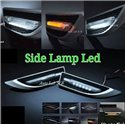 YCL 3 in 1 Universal Side Fender LED Light Bar DRL Day Time Running Light + Signal Indicator + Welcome Light [YCL-723]