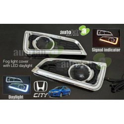 HONDA CITY GM6 2014 - 2017 3 in 1 LED Day Time Running Light DRL + Signal + Auto On Fog Lamp Cover
