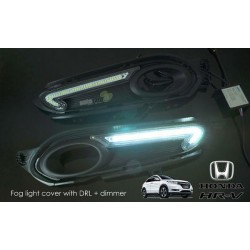 HONDA HRV VEZEL 3 in 1 LED Day Time Running Light DRL + Auto Dimmer + Auto On Fog Lamp Cover