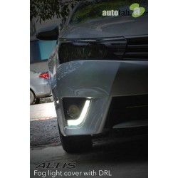 TOYOTA ALTIS 2014 - 2015 3 in 1 LED Light Bar Day Time Running Light DRL + Auto Dimmer + Auto On Fog Lamp Cover