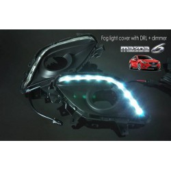MAZDA 6 GJ 2013 - 2015 3 in 1 LED Day Time Running Light DRL + Auto Dimmer + Auto On Fog Lamp Cover