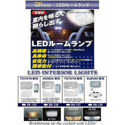 MOST TOYOTA, HONDA, SUZUKI, PERODUA Super Bright OEM LED Cockpit Room Lamp (Fully Plug and Play)