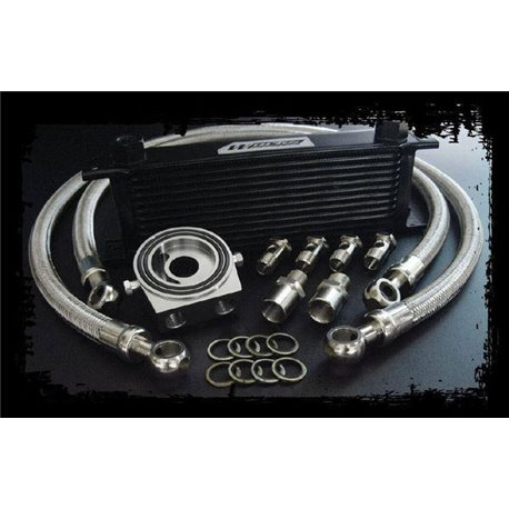 WORKS ENGINEERING 2 in 1 Engine Oil Cooler Kit with Oil Filter Relocate Adaptor [W-OCK]