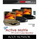"ACTIVE MATRIX 9"" Digital HD Quality Grey Color TFT Roof Monitor Made In Taiwan"