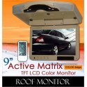 "ACTIVE MATRIX 9"" Digital HD Quality Beige Color TFT Roof Monitor [9004 Beige]"