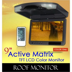 "ACTIVE MATRIX 9"" Digital HD Quality Grey Color TFT Roof Monitor [9004 Grey]"