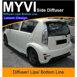 ALL PERODUA MYVI, SE1, SE2, LE, Lagi Best, Elegant 2005 - 2015 Side Diffuser/ Lips/ Bottom Line 1 Pair