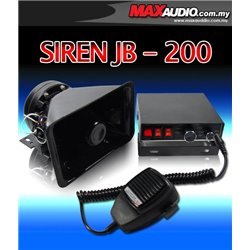 JB-200 200W RMS 5 Tone Talking Siren Light Control Box Car PA System Horn (Rare Item!)