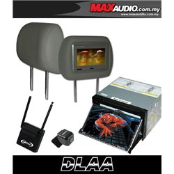 "DLAA DA-686 7"" Full HD Motorized Double Din DVD CD USB SD BLUETOOTH TV Player FREE Rear Camera + TV Antenna + Headrest Monitor"
