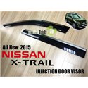 NISSAN X-TRIAL 2015: Injection Chrome Lining Elegant Steel Anti UV Light Door Visor with Clip (AL)