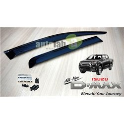 "ISUZU D-MAX 2013 - 2015 3.5"" Carbon Injection Premium Quality Anti UV Light Door Visor with Clip (AL)"