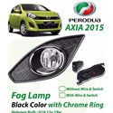 PERODUA AXIA Plug & Play Fog Lamp Spot Light with Chrome Ring Cover (With Wiring Kit or Without Wiring Kit) (AL)