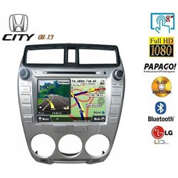 "HONDA CITY 2008 - 2013 8"" Full HD Double Din GPS DVD DIVX VCD MP3 CD USB SD Bluetooth TV Player Free Camera & TV Antenna"