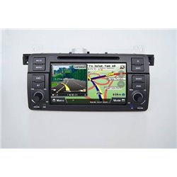 "BMW E46 1998 - 2005 DLAA 7"" Double Din GPS DVD DIVX VCD MP3 CD USB SD Bluetooth TV Player Free Camera & TV Antenna"