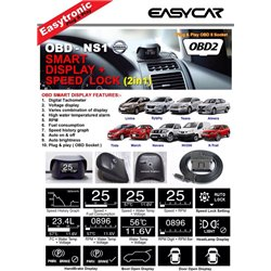 ALL NISSAN EASY CAR OBD II Plug & Play Smart Display Racing Monitor [OBD-NS1]