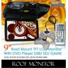 "9"" Roof Mount TFT Monitor DVD/MP3/CD/USB/SD with 300 Games [990 BLACK]"