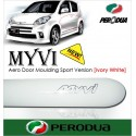 PERODUA MYVI Sport Version Aero Door Moulding [lvory White]
