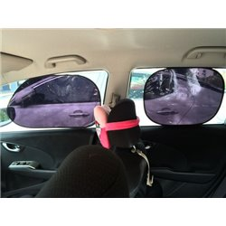 Car Static Electric 97% UV Proof Sun Shade 4 Pcs 37cm x 47cm & 38cm x 63cm Front & Rear Window Made in Taiwan