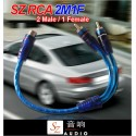 SZ AUDIO 2 Male 1 Female High Sound Quality RCA Cable [2M1F]