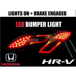 HONDA HRV, VEZEL, XRV Rear Reflector Light Bar LED Bumper Light (Red) Made in Thailand