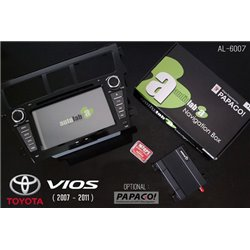 "TOYOTA VIOS 2007 - 2011 AUDIOLAB AL-6007 7"" Double Din GPS DVD VCD MP3 CD USB SD Bluetooth TV Player Free Camera & TV Antenna"