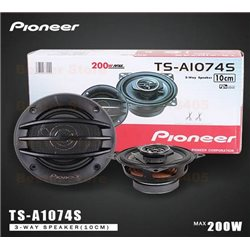 "ORIGINAL PIONEER TS-A1074S 4"" 2-Way 200W Coaxial Speaker for PERODUA MYVI, MERCEDES BENZ, PROTON SAGA2, WIRA"