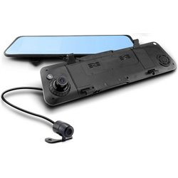 iFOUND Full HD 1080px DVR Driving Video Recorder Anti Glare Rear View Mirror with Front & Rear Camera [C920-S1]