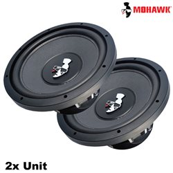 "MOHAWK MOD-1244 DIAMOND Series 12"" DVC Double Voice Coil Subwoofer - 2 Unit"