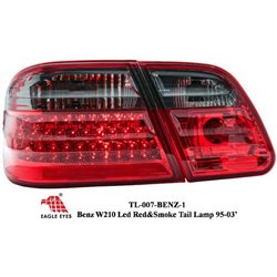 MERCEDES BENZ W210 E-Class 1995 - 2001 EAGLE EYES Red & Smoke LED Tail Lamp Lights [TL-007-BENZ-1]