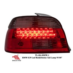 BMW E39 5-Series 1995-2000 EAGLE EYES Red Smoke LED Crystal Tail Lamp [TL-004-BMW-1]