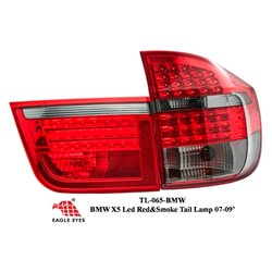 BMW X5 X-SERIES 2007 - 2009 EAGLE EYES Red Smoke LED Tail Lamp [TL-065-BMW]